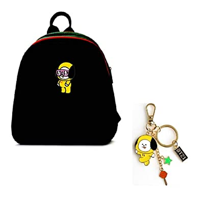 PINGJING BTS Bangtan Boys New Fashion Cartoon Cute Causal Shoulder Bag Student Backpack Small Daypacks Purses for Girls and Women (BTS Type 5)   Kids' Backpacks