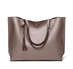 ★A classic silhouette made for a sophisticated, modern woman: Nodykka Designer Fashion Tote Purse Top Handle Shoulder Bag!  ★The durable and high quality synthetic leather material with two handles and tassel detail make it a great bag purse ...