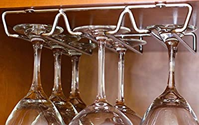 DecoBros Under Cabinet Wine Glass Stemware