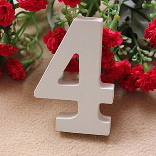 ULTNICE 10pcs Zahlen 31-40 Holztisch Zahlen mit Halter Basis zur Hochzeit oder zu Hause Dekoration