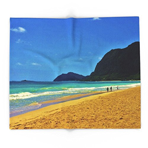 Society6 Waimanalo Beach - Hawaii 88'' x 104'' Blanket by Society6