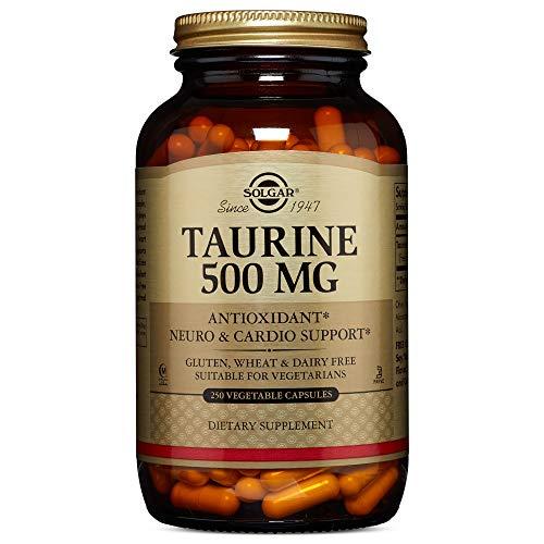 Solgar Taurine 500 mg, 250 Vegetable Capsules (Solgar L Glutamine 500 Mg Vegetable Capsules)