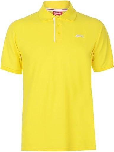 Slazenger Hombre Plain Camiseta Polo Amarillo XS: Amazon.es: Ropa ...