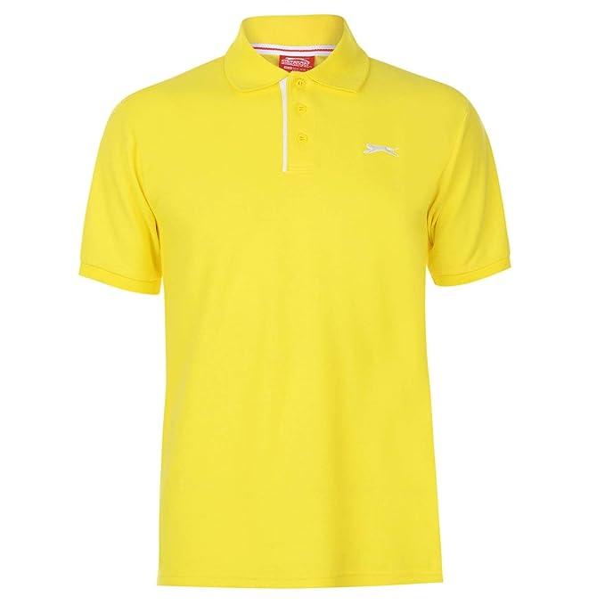 Slazenger Hombre Plain Camiseta Polo Amarillo M: Amazon.es: Ropa y ...