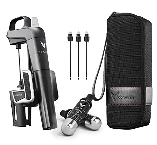 - Coravin Model Two Plus Pack Wine Preservation System, 2, Includes 2 Argon Capsules, Replacement Needles and Carry Case