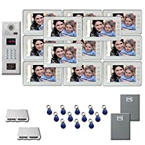 Multi Tenant Video Entry 12 seven inch color monitor door panel kit