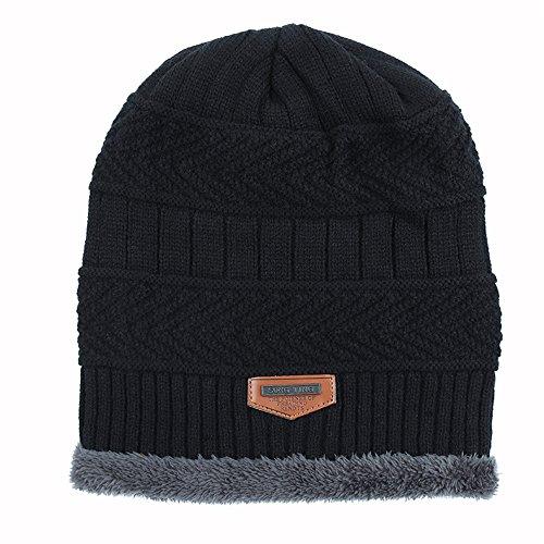 BaronHong Gorra esquí Gorra sombrero de invierno terciopelo de el de hombres negro para punto AxqnrYSwAz