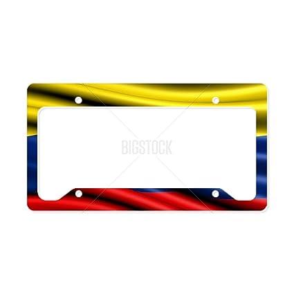 CafePress - bandera de Colombia de la matrícula Soporte ...