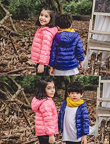 Jacket Girls Blue BESBOMIG Zipper Coats Kids Royal Windproof Jacket Thin Unisex Lightweight Down Winter Hooded Outerwear Boys Warm qqtSwT7yv