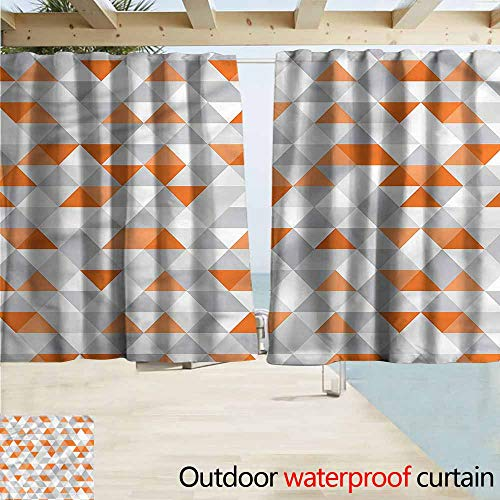 Argyle Triangle Top - MaryMunger Indoor/Outdoor Top Curtain Geometric Triangles Argyle Zigzag Rod Pocket Curtain Panels W55x39L Inches