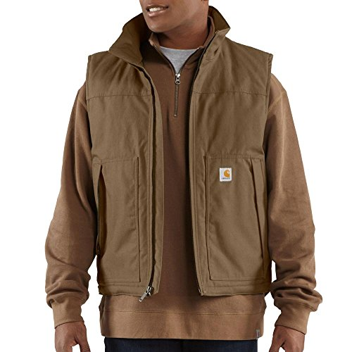 Carhartt Men's Big & Tall Quick Duck Jefferson Vest,Canyon Brown,Large Tall