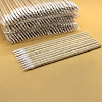 WellieSTR 10packs=1000pcs Pointed Wood Cotton Head 100 Lot Health Makeup Cosmetics Clean Cotton Swab Stick Tattoo Dedicated Beauty Makeup