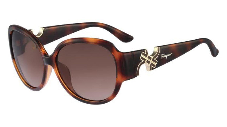 c689dc8ac66 Amazon.com  Salvatore Ferragamo Sunglasses SF682SA 214 Tortoise 59 15 135   Clothing