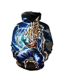 [Jandz] Dragon Ball Hoodie Unisex: Thunder, 3D Print Otaku, Cosplay, Anime Design