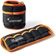 Sportneer Adjustable Ankle Weights Set 1 Pair 2 4 6 8 10Lbs Wrist Arm Leg Weight Straps for Women Men Kids, We