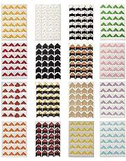 Misscrafts 384PCS Kraft Photo Corners Self-Adhesive 16 Sheets Colorful Picture Sticker for Scrapbooks Memory Books Album Diary
