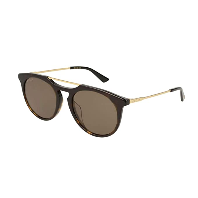 b0417d7fb2b Gucci GG0320S 003 Havana Gold GG0320S Round Sunglasses Lens Category 3 Size  5  Gucci  Amazon.co.uk  Clothing