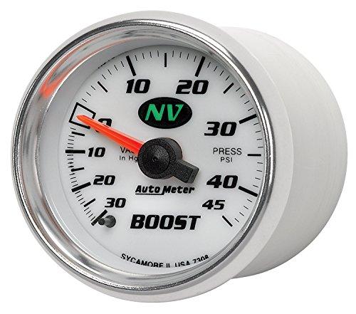 """Auto Meter 7308 NV 2-1/16"""" 30 in. Hg/45 PSI Mechanical Vacuum/Boost Gauge"""