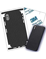 Carbon Fiber 3M Film for iPhone 8, 8 Plus Skin Wrap Protective Around Borders and Back Thin 3D Elegant Skin (iPhone 8)