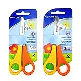 2 x Children's/Kid's Left Handed Scissors with Ruler Edge - Westcott Branded