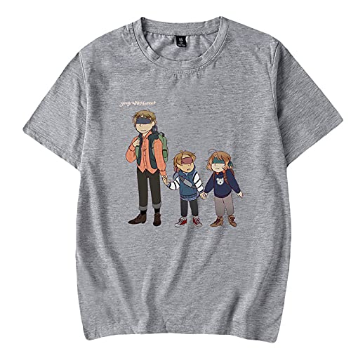 LIZCX Axis Powers Anime Fashion Casual ronde hals korte mouw heren en dames T-shirt (XXS-4XL)