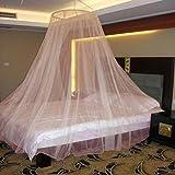 Neruti Enterprise Nylon Adults Double Bed (Round-Canopy) Mosquito Net(Orange)
