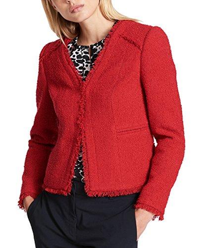 DKNY Fringe-Trim Textured Blazer (Red, ()