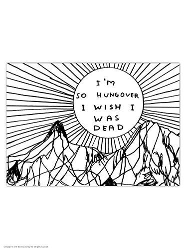 (Funny Humorous 'David Shrigley So Hungover' Novelty Postcard)