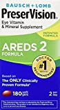 Bausch and Lomb PreserVision AREDS 2 Formula Eye Vitamin and Mineral Supplement - pq1tr Pack of 1Pack (180-Count Each)