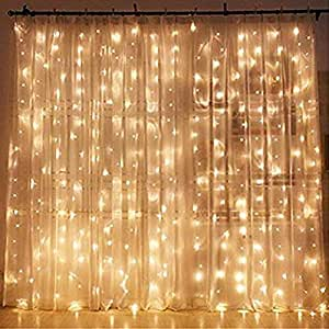 Amazoncom Twinkle Star 300 Led Window Curtain String Light