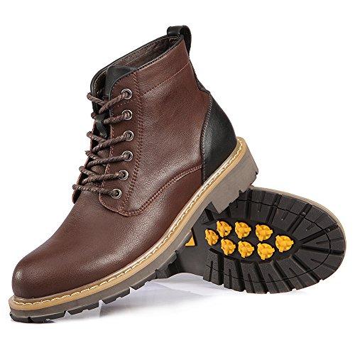 Marrone Combattere Stivali Laces Militare Scarpe Comfort Uomo Shenn da Caviglia Alto TnvAFw8qz