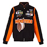 2017 Chase Elliott Hooters Mens Black Twill Nascar Jacket by JH Design (XL)