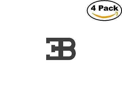 Amazon Com Bugatti Logo 4 Stickers 4x4 Inches Car Bumper Window