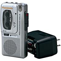 Panasonic RN-505 Rechargeable Micro Cassette Recorder with Voice Activation System