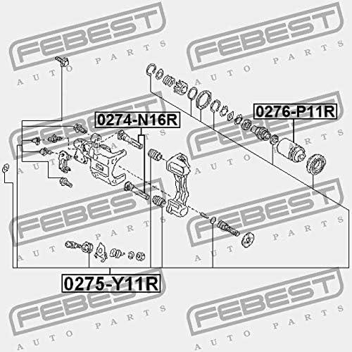 0275-Y11R Febest REAR BRAKE CALIPER REPAIR KIT
