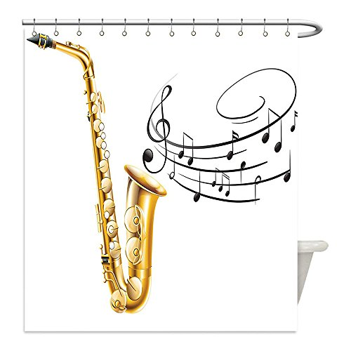 Diy Red Solo Cup Costume (Liguo88 Custom Waterproof Bathroom Shower Curtain Polyester Jazz Music Decor Illustration of Fancy Old Saxophone with Template Solo Vibes Art Print Decor Decor Golden Black White Decorative bathroo)