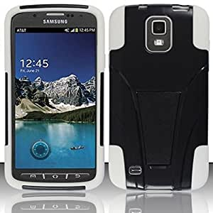 For Samsung Galaxy S4 ACTIVE i537 i929PC+SCRID Cover w/ Kickstand White