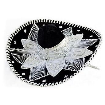 Amazon.com  Black and White Mariachi Sombrero  Clothing 0fb367ea8f7