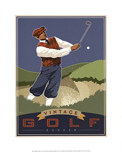 Vintage Golf - Bunker by Si Huynh Art Print