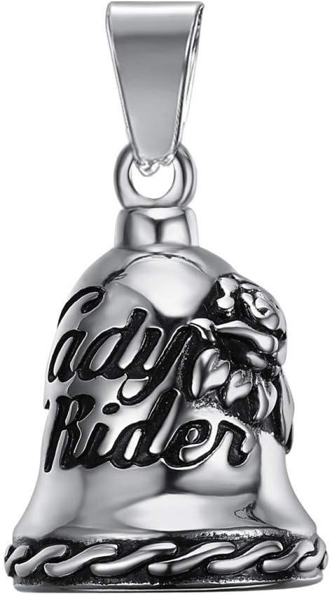 Clochette Porte-Bonheur Protection Motarde Moto Acier 316L Lady Rider Noir Bikeuse Femme BOBIJOO Jewelry