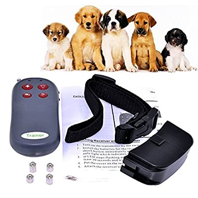 4 In 1 Remote Small/Med Dog Training Shock Vibrate Collar Trainer Safe For Pet by Generic