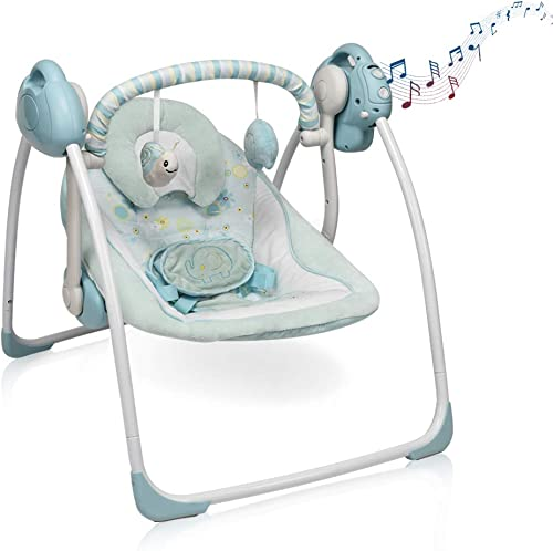 Electric Baby Rocking Chair Soothing Portable Swing - Best Portable Baby Swings With AC Adapter