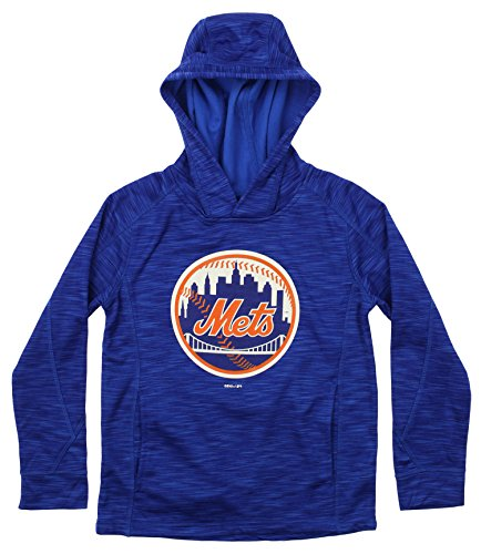 Outerstuff MLB Youth's Performance Fleece Primary Logo Hoodie, New York Mets Large (14-16) ()
