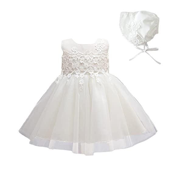Amazon.com: Weileenice Baby Girls Christening Baptism Dress White ...