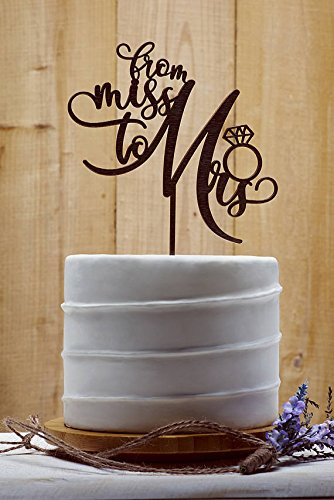 from miss to mrs wedding cake toppers bridal shower cake topper brown wood rustic wedding decor