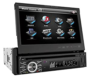 Power Acoustik PTID In-Dash DVD AM/FM Receiver with 7-Inch Flip-Out Touchscreen Monitor with USB/SD Input by POWER ACOUSTIK