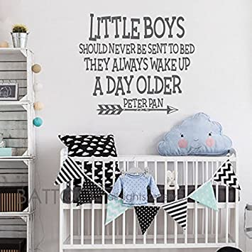 amazon com battoo nursery wall decal quote little boys should never