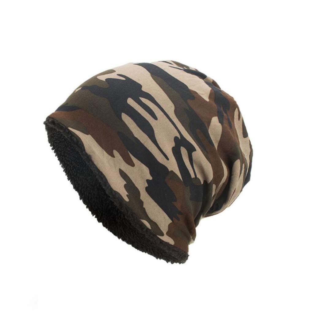 MTXLN Camouflage-Warme Hut-Männer Plus Mit Kapuze Kappen-Windundurchlässige Kalte Ski-Kappen-Beanie-Hüte Stapelten Hut-Geschenke Im Freienreise, Black, 26.5Cm*28Cm 1221SUNY