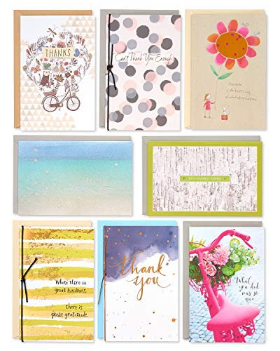 American Greetings Premium Thank You Greeting Card Collection, 8-Count from American Greetings