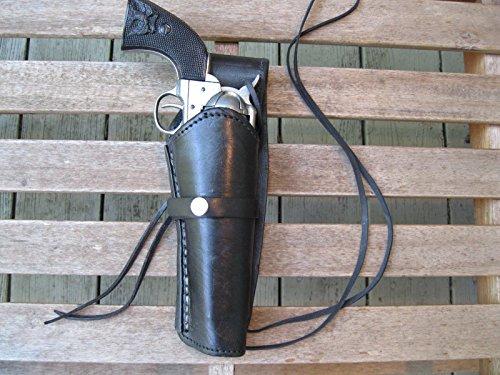 Shotgun Lilli Western Gun Holster - Black - Right Handed - for .45 Caliber Single Action Revolver - Size 6